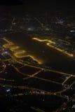 Photographie aérienne la nuit Image stock