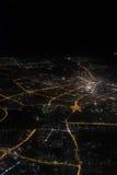 Photographie aérienne la nuit Images stock