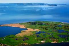 photographie aérienne Struck en mer baltique Image libre de droits