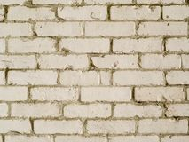 Photographie blanche de fond de mur de briques de style campagnard images stock