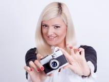 Photographie blonde de femme Photographie stock libre de droits