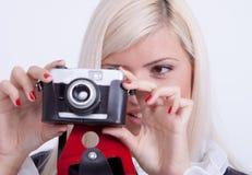 Photographie blonde de femme Photos stock
