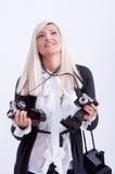 Photographie blonde de femme Photographie stock