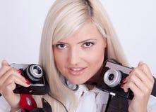 Photographie blonde de femme Photo libre de droits