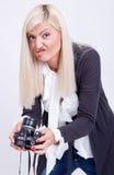 Photographie blonde de femme Images stock