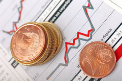 Photographie conceptuelle financière. Image libre de droits
