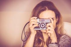 Photographie d'appareil-photo de vintage images libres de droits