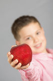 L'enfant des pommes 11 Photo stock