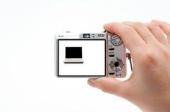 Photographie d'un ordinateur portatif Photographie stock