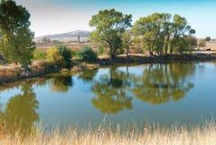 Photographie d'un petit lac Images libres de droits