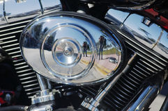 Photographie d'une moto Photographie stock