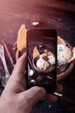 Photographie de crème glacée  Images libres de droits