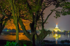 Photographie de HDR des ruines d'Anuradhapura, Sri Lanka Photo stock