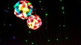 Photographie de l'éclairage dans un festival pour l'utilisation de fond Photographie stock