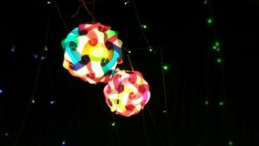 Photographie de l'éclairage dans un festival pour l'utilisation de fond Images stock