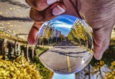 Photographie de lentille de Crystal Ball images stock