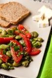 Photographie de nourriture de salade de fève Photos stock