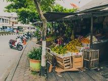 Photographie de rue de ville de Balikpapan, Bornéo, Indonésie Images libres de droits