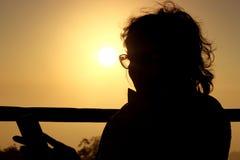 Photographie de silhouette d'une femme Photos stock