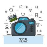 Photographie et réseau social Images libres de droits