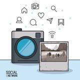 Photographie et réseau social Photo libre de droits