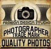Photographie Logo Design Template Rétro insigne de vecteur Goujon de photo Image stock