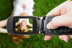Photographie mobile Image libre de droits