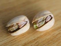 Photographie salée de macro de pistaches photo libre de droits