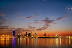 Photographie spectaculaire de HDR d'horizon du Bahrain Photographie stock libre de droits