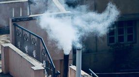 Photographie unique d'air de pollution de fumée de cuisine de Chambre Images libres de droits