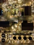Photographies aériennes des usines de raffineries de pétrole, réservoir de gaz, réservoir de stockage de pétrole, réservoir chimi images libres de droits