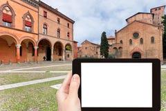 Photographies de touristes de sept églises, Bologna Photo stock