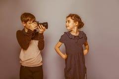 Photographies européennes d'aspect d'adolescent de garçon Photographie stock libre de droits