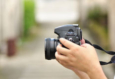 Photographing Royalty Free Stock Photo