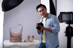 Photographing accessories and shoes Royalty Free Stock Image