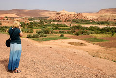Photographing Ait Benhaddou Stock Photos