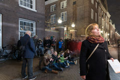 Photographing the Amsterdam lights festival Royalty Free Stock Photo