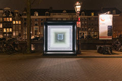 Photographing the Amsterdam lights festival Royalty Free Stock Image