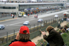 Photographing auto races Royalty Free Stock Photography