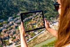 Photographing Berat city in Albania Stock Photo