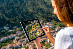 Photographing Berat city in Albania Royalty Free Stock Images