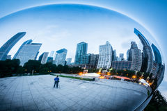 Photographing Chicago at the Bean Royalty Free Stock Photos