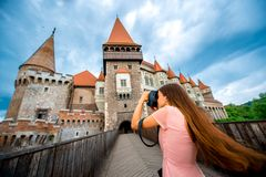 Photographing Corvin castle Stock Photography