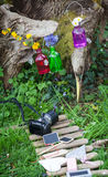 Photographing the decoration in garden Stock Photo