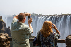 Photographing the Falls 1 Royalty Free Stock Photo