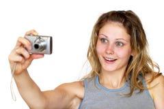 Photographing girl Stock Photos