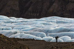 Photographing the glacial Stock Images