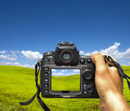Photographing landscape Stock Photos