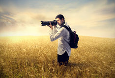 Photographing landscapes Royalty Free Stock Photo