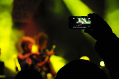 Photographing live concert Royalty Free Stock Photos